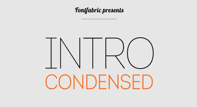 Intro Condensed